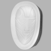 African Mask (Oval Shape)