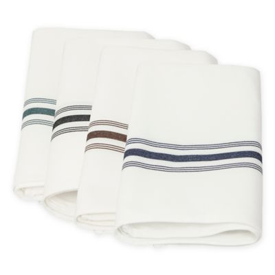 Pack of 12 Bistro Napkin Forest Green Stripes picture