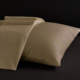 Desire Collection Ivory Queen Sheet Set 400TC, 100% ELS Cotton, Plain Sateen.