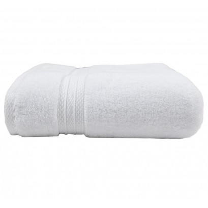 "Elea White Bath Towel 28""x55"", 100% Cotton picture"