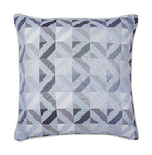 "Mille Twist Asphalte Cushion Cover 16""x16"", 100% Cotton"