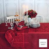 "Tablecloth Cassandre Grenat 68""x119"", GS"