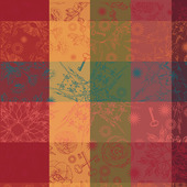 "Mille Alcees Litchi Napkin 22""x22"", 100% Cotton"