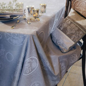 "Mille Eclats Macaron Tablecloth Round 71"", 100% Cotton"