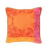 "Cushion Cover Mille Fiori Feuillage 16""x16"", Cotton - 2ea"