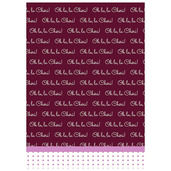 Oh La la Cherie Pourpre Printed Kitchen Towel