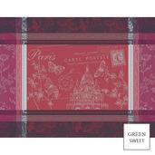 Carte Sacre Coeur Rouge Placemat, GS Stain Resistant-4ea