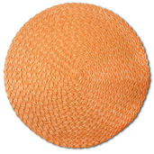 Pack of 4 Rosette Orange Vinyl Placemat