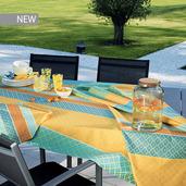 "Mille Claustras Corsica Tablecloth 61""x61"", 100% Cotton"