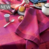 """Mille Couleurs Pivoine Tablecloth 71""""x71"""", Organic Cotton"""