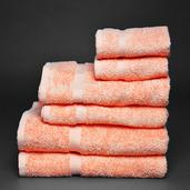 Essential Blush 6 pieces Bath Set, 100% Cotton.