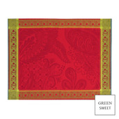 "Isaphire Rubis Placemat 21""x15"", Green Sweet"