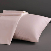 Desire Collection Pearl Blush King Set of Two Pillow Cases 400TC, 100% ELS Cotton.