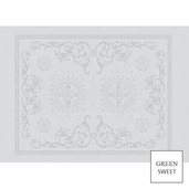 "Eloise Blanc Placemat 20""x16"", Green Sweet"
