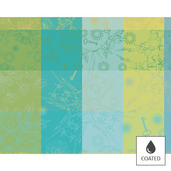 "Mille Alcees Narcisse Placemat 16""x20"", Coated Cotton"