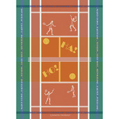 Tennis Terre Battue Kitchen Towel, Cotton