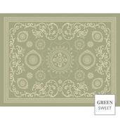 """Empire 1 Set Vert Ancien Placemat 14""""x18"""", Green Sweet"""