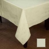 "Natte Ivory Tablecloth 72""x72"" , Cotton"