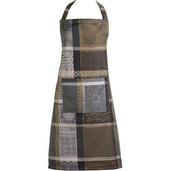 "Mille Wax Cendre Apron 31""x35"", 100% Cotton"