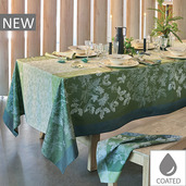 "Mille Automnes Mousse Tablecloth 69""x69"", Coated Cotton"