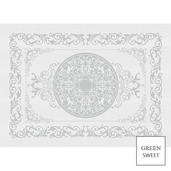 """Comtesse Blanc Placemat 21""""x15"""", Green Sweet"""