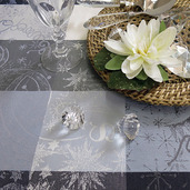 """Mille Couleurs Orage Tablecloth 45""""x45"""", 100% Cotton"""