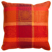 Cushion Cover Sm Mille Wax Ketchup, Cotton - 2ea