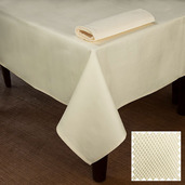 Overall Partridge Eye Ivory Tablecloth Square 90x90