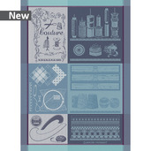 Couture Bleu Kitchen Towel, Cotton