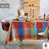 "Mille Couronnes Jubile Tablecloth 59""x87"", Coated Cotton"