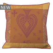 "Chateau de Cartes Ocre Cushion Cover  20""x20"", 100% Cotton"