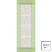 """Eugenie Amande Tablerunner 21""""x59"""", Green Sweet"""