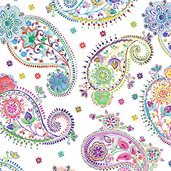 "Mille Cachemire Festival 18""x18"" Napkin, 100% Cotton - Set of 4"