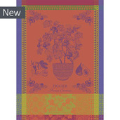 Figuier Orange Kitchen Towel, Cotton