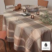 "Mille Wax Argile Tablecloth 69""x69"", Coated Cotton"