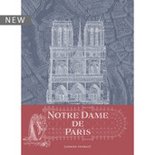 "Notre Dame de Paris Blue Kitchen Towel 22""x30"", 100% Cotton"