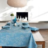 """Mille Coraux Ocean Tablecloth 71""""x98"""", 100% Cotton"""