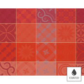 Mille Tiles Terracotta Placemat, Coated-4ea