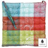 """Mille Couleurs Paris Chair Cushion 15""""x15"""", Coated Cotton"""