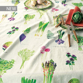 "Mille Potager Printemps Tablecloth 61""x89"", Metis"