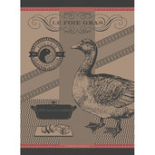 Foie Gras Lisere Rouge Kitchen Towel, Cotton