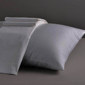 Dream Collection Light Grey Standard/Queen Set of Two Pillow Cases 200TC, 100% Organic Cotton.