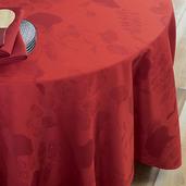 "Mille Feuilles Rouge Tablecloth 35""x35"", Cotton"