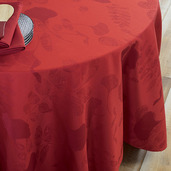 Mille Feuilles Rouge Tablecloth round 71, Cotton