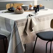 "Mille Bastides Natural Tablecloth 61""x89"", 100% Cotton"