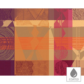 Mille Tingari Terre Rouge Placemat, Coated-4ea