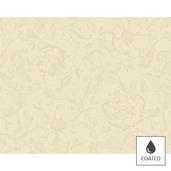 """Mille Charmes Ecru De Blanc Placemat 16""""x20"""", Coated Cotton"""