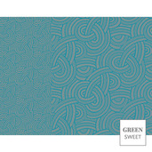 "Design Set 4 Danube Placemat 14""x18"", Green Sweet"