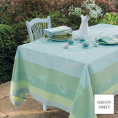 """Envolee Fog Tablecloth 69""""x120"""", GS Stain Resistant"""