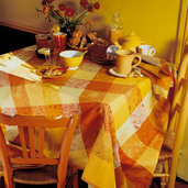 "Mille Couleurs Soleil Tablecloth 71""x118"", 100% Cotton"